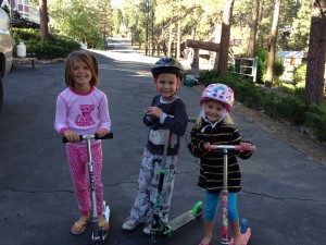 My niece and kids, in the driveway where it all began...