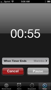iPhone timer