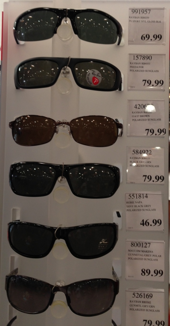 ray bans sunglasses costco  costco sunglasses (for men) i wrote a few weeks ago about buying sunglasses at nordstrom rack, but they don't have any men's styles there.